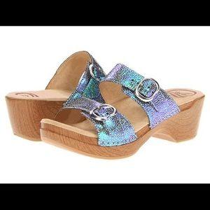 Dansko Sophie Sandal Blue Green Iridescent Sandal